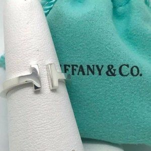 Tiffany & Co Silver 925 T Square Ring Band